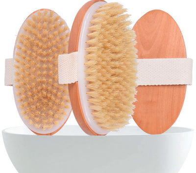 Dry Skin Body Brush - Improves Skin's Health And Beauty - Natural Bristle - Remove Dead Skin And Toxins