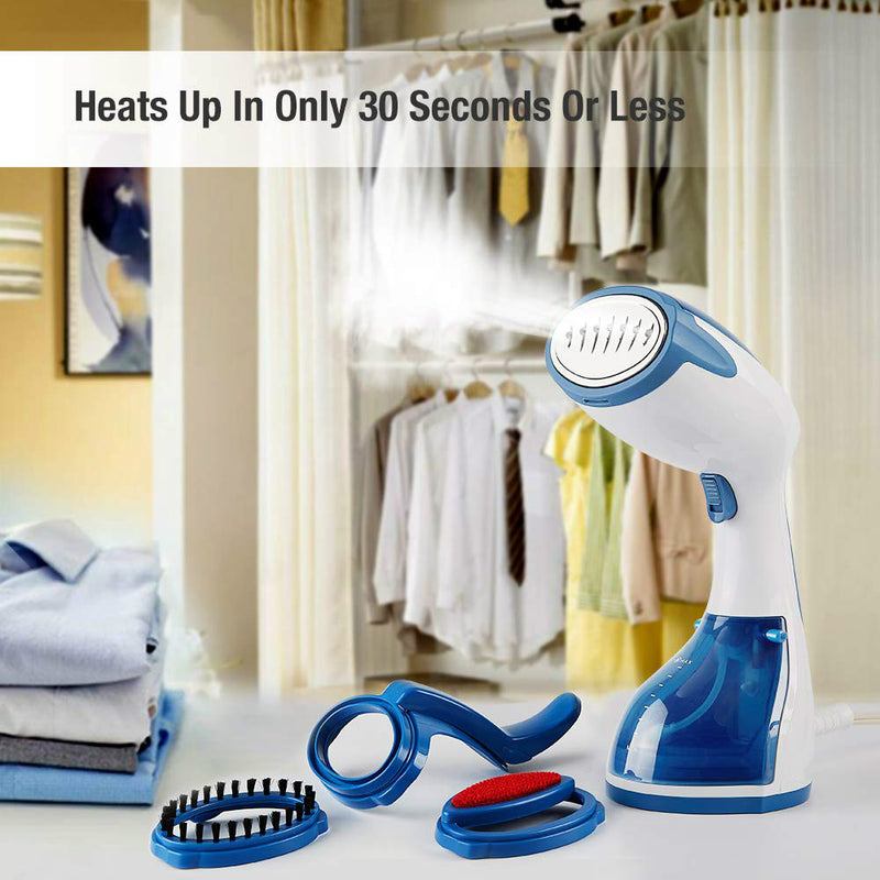 Appreciis Garment, Wrinkle Remover, Clean and Sterilize, 30s Fast Heat-up, Auto Shut-Off, 100% Safe Handheld Fabric Steamer for Home and Travel, 1200-Watt, Dark Blue