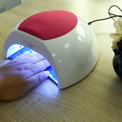 48W UV LED Lamp Nail Dryer Professional Toenail Gel Curing Machine with 4 Timer Setting 10/30/60/90S 33 Leds
