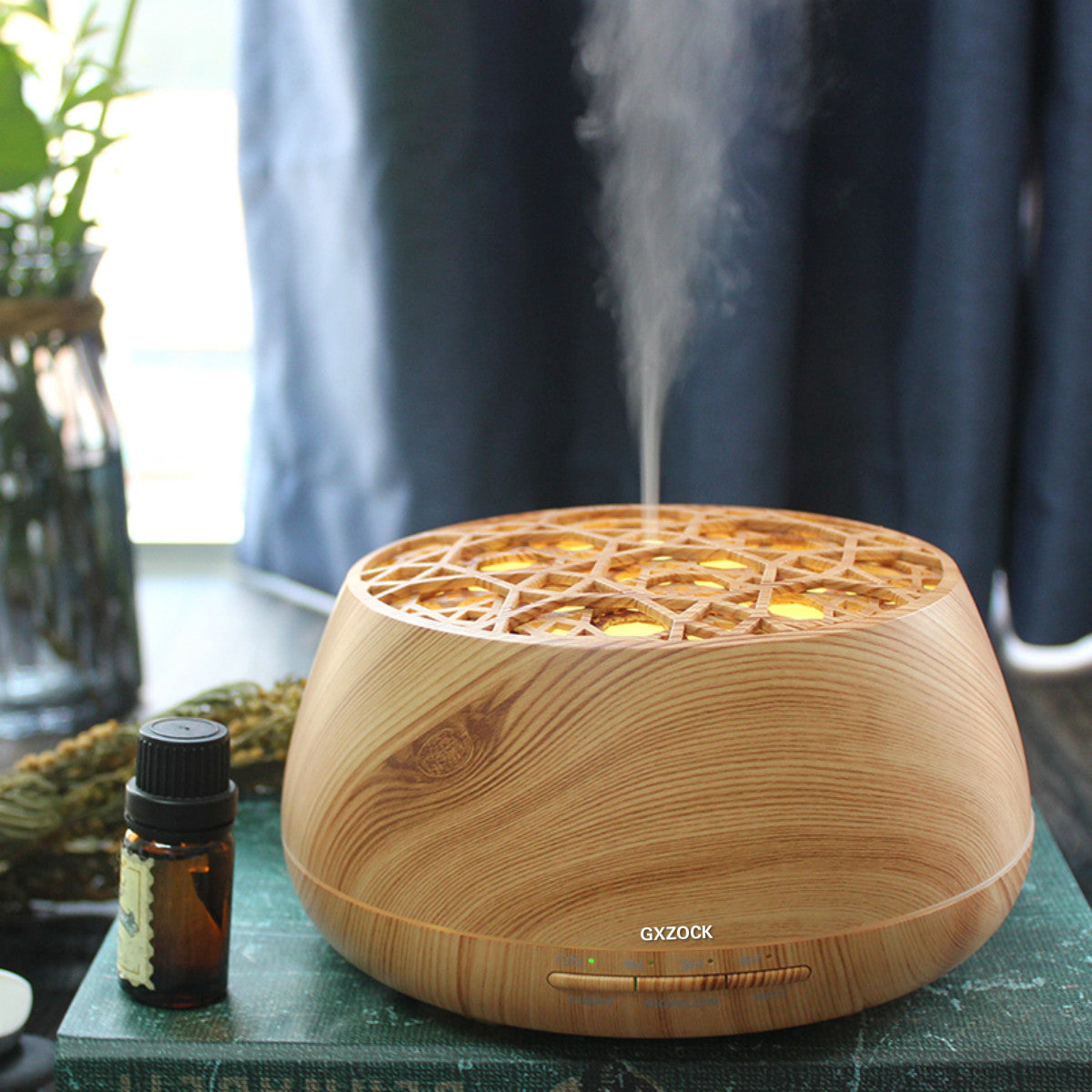 400ml Aromatherapy Essential Oil Diffuser, ultrasonic aroma essential oil diffuserCool Mist Humidifier with Wood Grain Design for Office, Room, Spa
