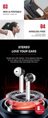 New In-ear Earbuds Twins Double Wireless Bluetooths Headset Pair Blue tooth Earphone