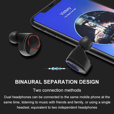 TWS 5.0 Bluetooth 9D Stereo Earphone Wireless Earbuds IPX7 Waterproof Earpieces with 3300Mah LED Smart Power Bank Phone Holder