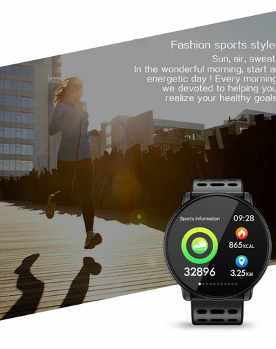 smartwatch bluetooth heart rate sport android 2020  fitness smart watch 1.33 inch big colored screen
