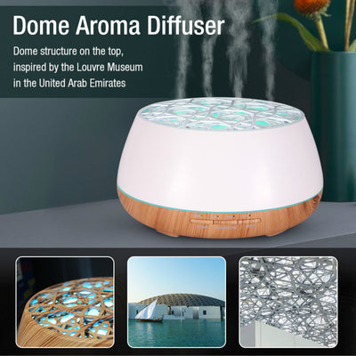 Big Capacity 400ml App Speaker Diffuser Wood Grain Aromatherapy Aroma Diffuser, Support bluetooth music and APP control Ultrasonic Aromatherapy Diffuser for Home & Office