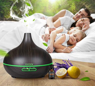 300ml Air Humidifier Ultrasonic Bamboo Electric Essential Oil Aroma Diffuser