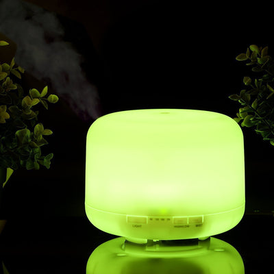 500mL LED Ultrasonic Timer Humidifier  Essential Oil Diffuser 12W 7 Colors Flash Lights 2 Modes Adjustable Aromatherapy Humidifier for Home Office