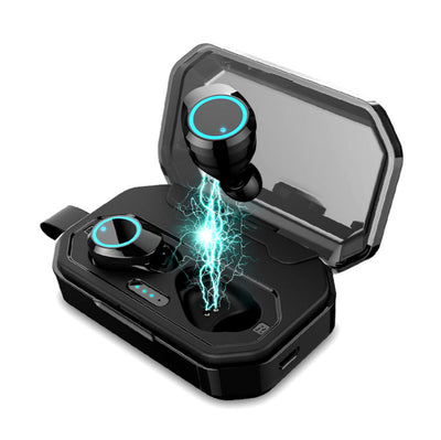 Bluetooth headset X6 Pro Upgrade LED Cold Light Power Display TWS 5.0 Blue tooth headphone 3D Stereo Wireless Earphone With 3000mAh Charge Box