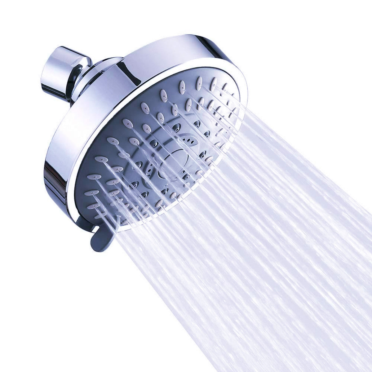 High Pressure Shower Head, Upgraded 5 Spray Patterns Adjustable Bathroom Shower Head, Multi-Functional Fixed Showerhead 360° Rotatable Rain Showerhead High Flow Shower Head