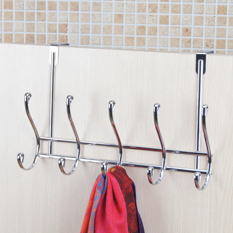 Stainless Steel Heavy Duty Wall Mount Cloth Towel Coat Rail Hanger door hook Rack for Bathroom Kitchen