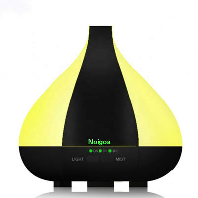 Essential Oil Diffuser 220ml Aroma diffuser Wood Grain Ultrasonic Cool Mist Humidifier with 7 LED Color lights  For Hospital Waiting Rooms Ambulances And Dental Clinics