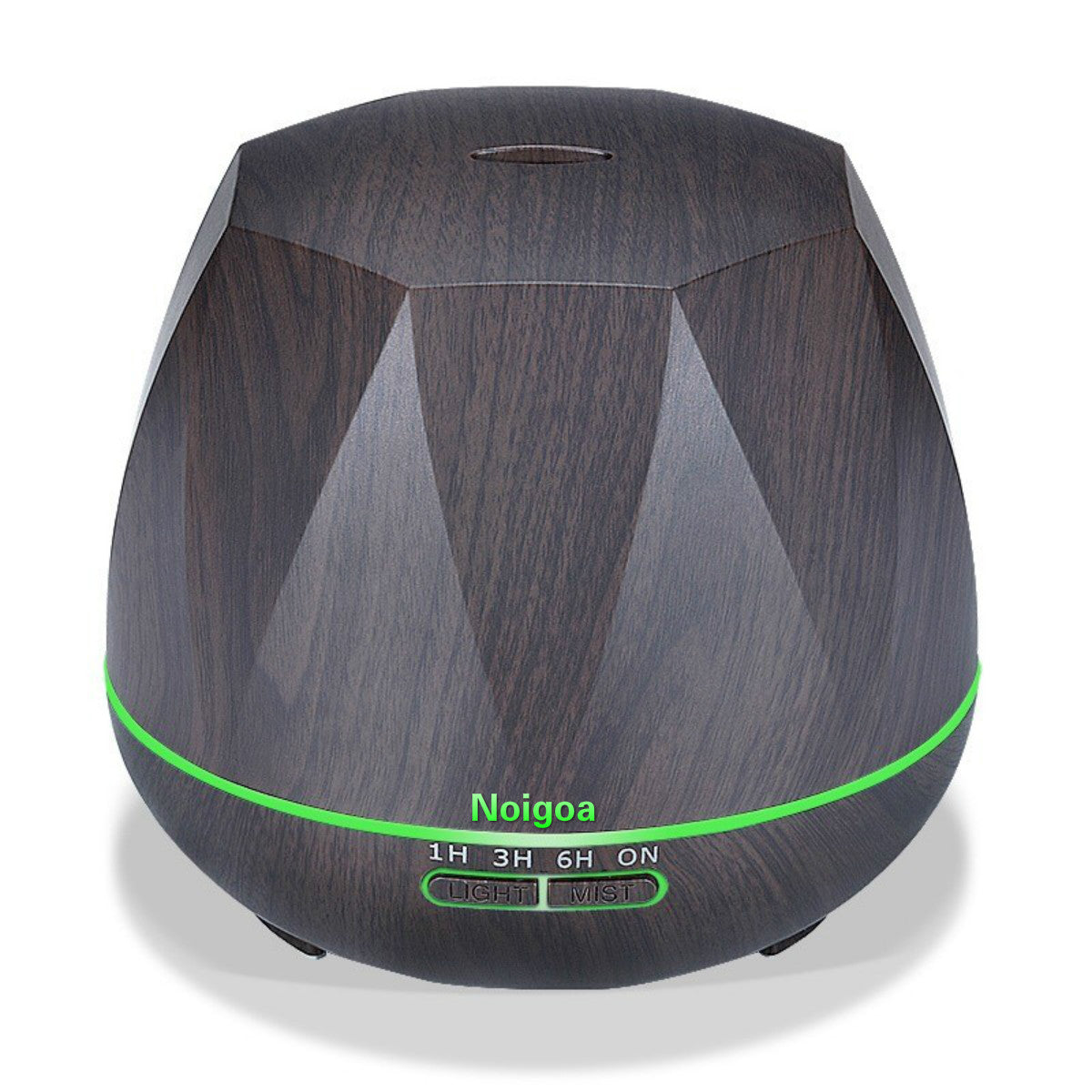 Unique design 550ml wood grain ultrasonic remote control essential oils air purifier humidifier aroma diffuser with 7 LED light