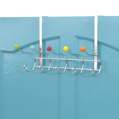 Over The Door Hook Organizer Rack - Over the door metal wire clothes hook for hanging coat