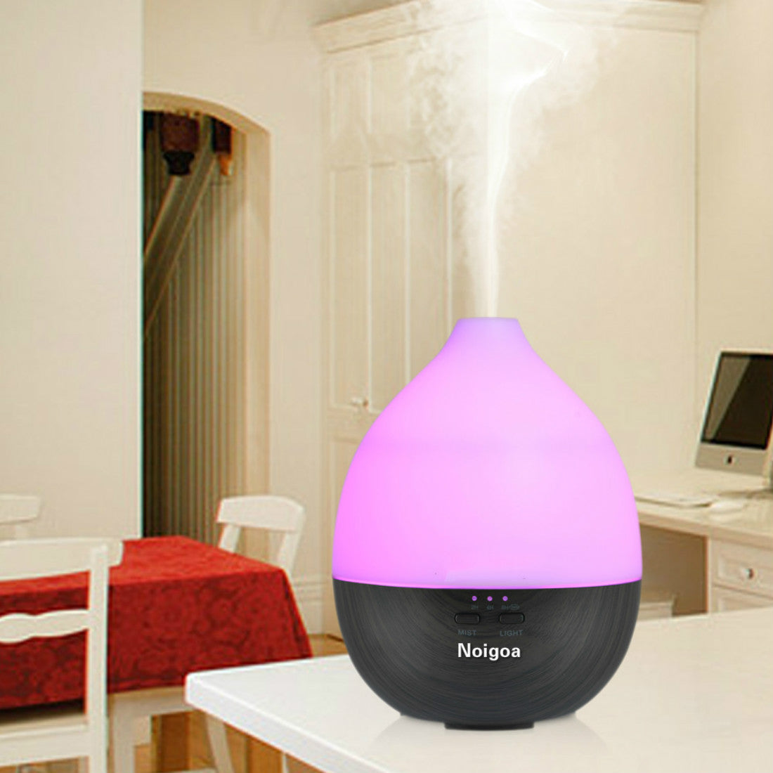 Wooden grain ultrasonic aroma diffuser 200ml Ultrasonic Essential Oil Diffuser Air Humidifier with 7 colors LED Lights