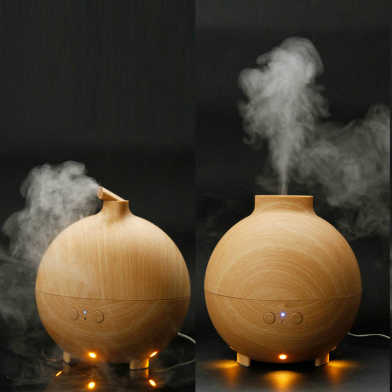 600ml Hot Sale Ultrasonic Air Humidifier Mist Maker Fogger Electric Aroma Diffuser Essential Oil Aromatherapy LED Light