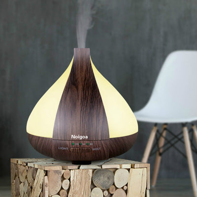 220ML Wood Grain Colorful Home Fragrance Electric Aroma Scent Oil Diffuser / Home Unique Water Drops Essential Oil Diffusers Ultrasonic Aromatherapy Humidifier 220ml Wood Grain