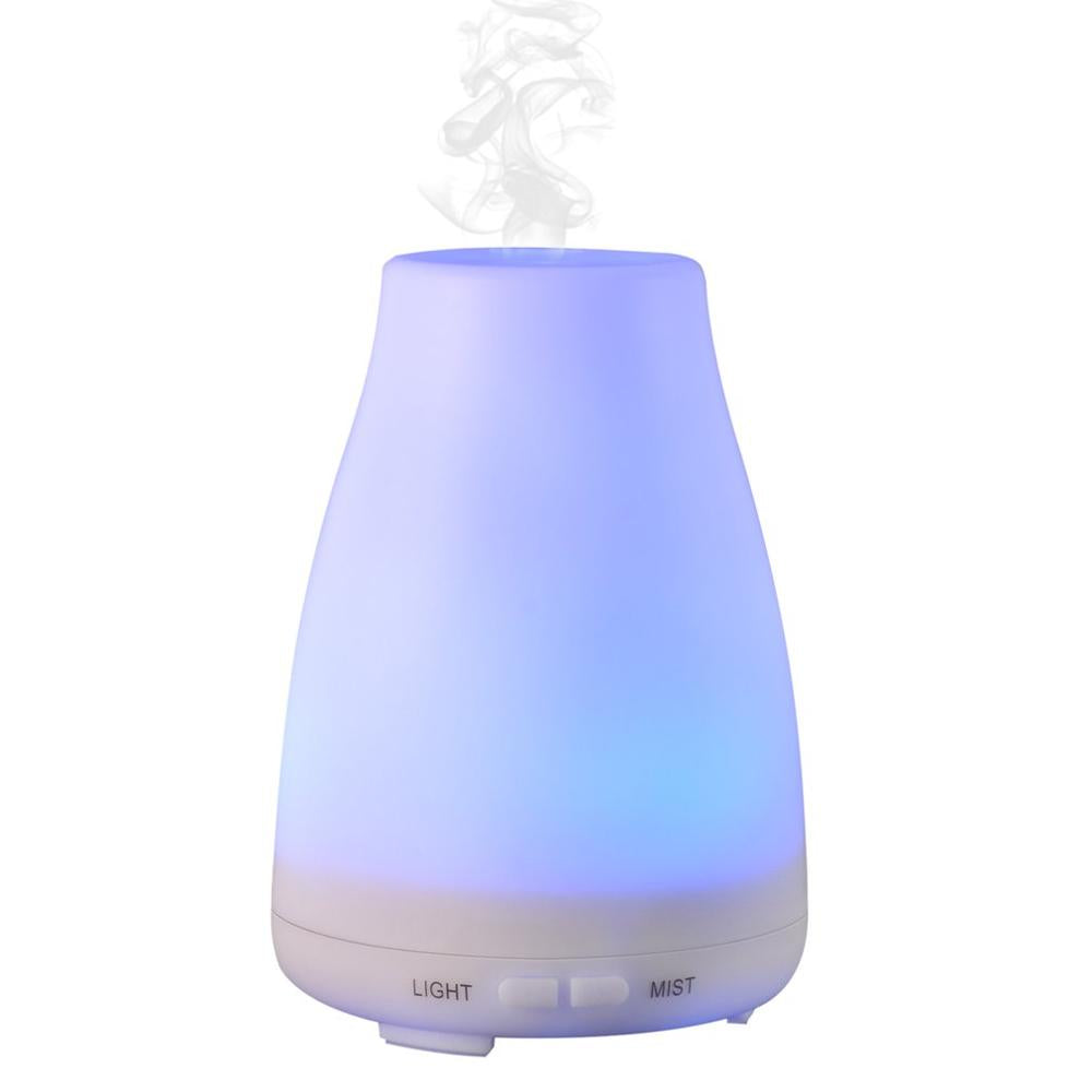 Essential Oil Diffuser, 120ml Cool Mist Ultrasonic Aroma Diffuser, Air Humidifier Wood Grain with Waterless Automatically Shut-off for Office Home Yoga Spa-Wood