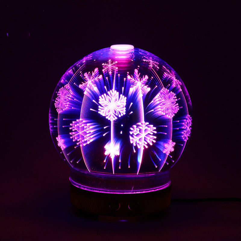 Essential Oil Diffusers Ultrasonic Humidifier Portable Aromatherapy Diffuser with 100ml Ultrasonic Cool Mist Humidifier with 3D Effect and 7 LED Night Light Colors