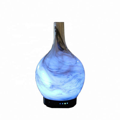 High quality simplified aromatherapy handmade mini ultrasonic mosaic glass electric fragrance aroma essential oil diffuser