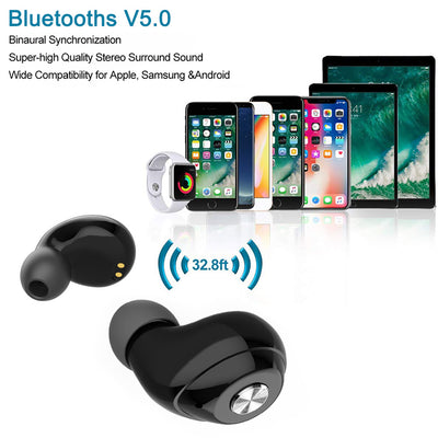 Bluetooths headset 5.0 Mini Earphone In-ear TWS Earbuds  BE40 Mini wireless double ear bluetooths 5.0 tws earphone earbuds wireless headset headphone
