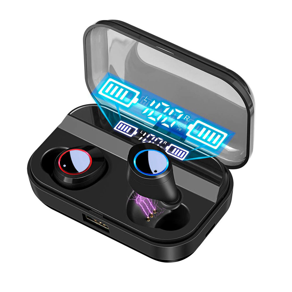 TWS Wireless Headphones X11 Bluetooths 5.0 Earphones Power Display Touch Control with LED 3000mah Charging Case