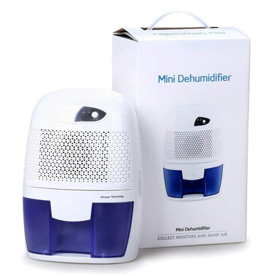 Compact 500ml Dehumidifier, Mini Deshumidificador, Home Dehumidifier Electric for Dorm Room, Home, Crawl Space, Bathroom, RV, Baby Room, Garage, White