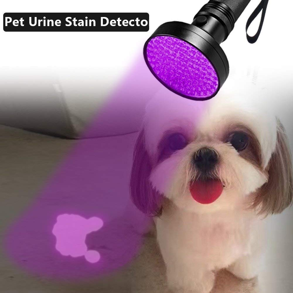 UV Black light Flashlights 100 LED 395 nm Ultraviolet Blacklight Pet Urine Detector for Dog Cat Urine, Dry Stains, Bed Bugs