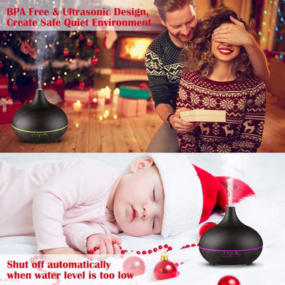 Table top Ultrasonic whisper quiet Electric Air Purifier BPA free Essential oil diffuser Portable 300ml cool mist Humidifier