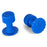 Keco 16 mm Blue Dimpled Round Hail Tab (5 Pack)