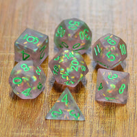Green frosted mermaid dice