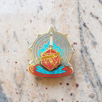 Cleric Spinning Enamel pin - Divine Protector
