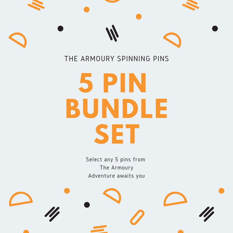 The Armoury 5 spinning Pins Bundle Set