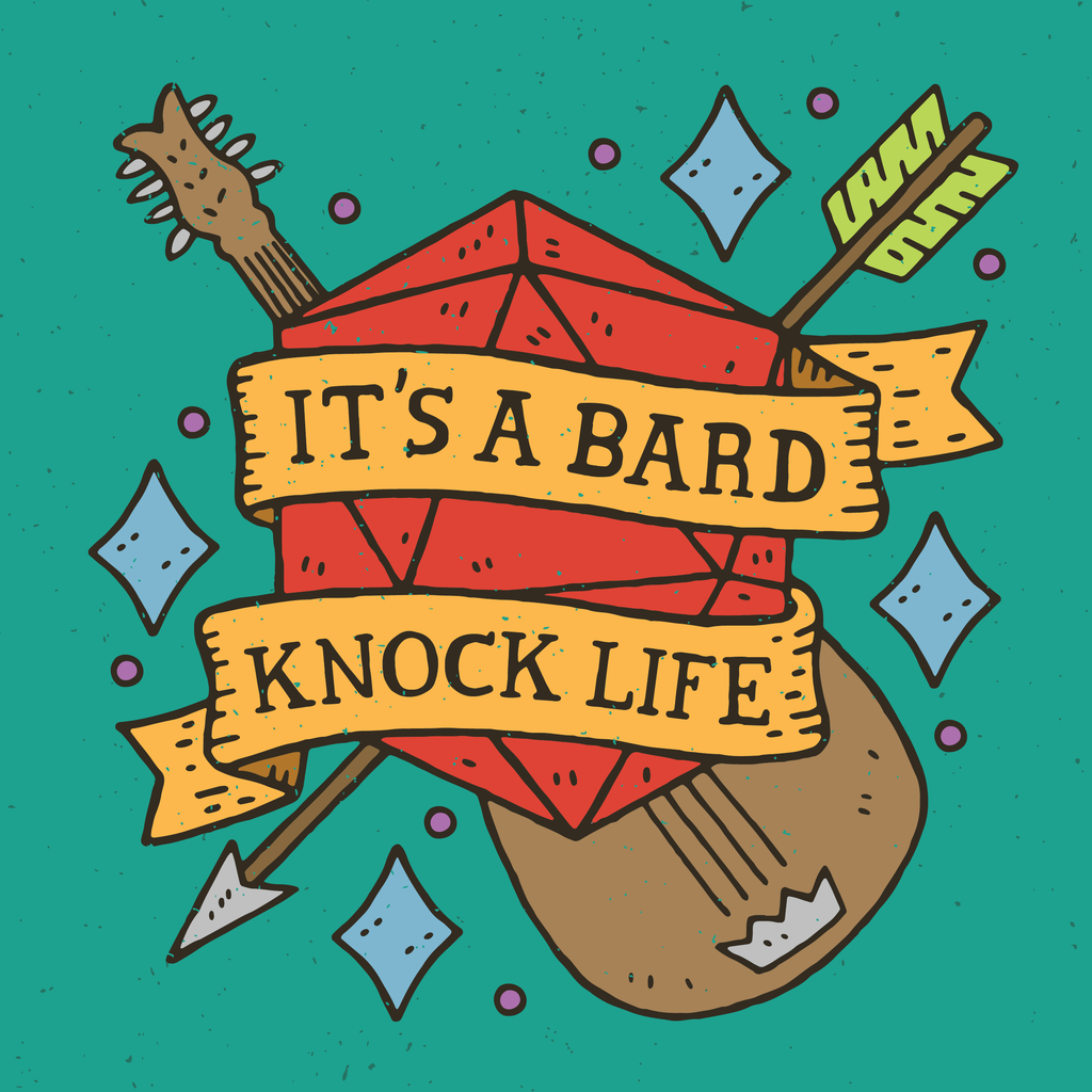 Bard Knock Life Iron on Patch