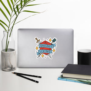 Sneaky Living Die-Cut Sticker