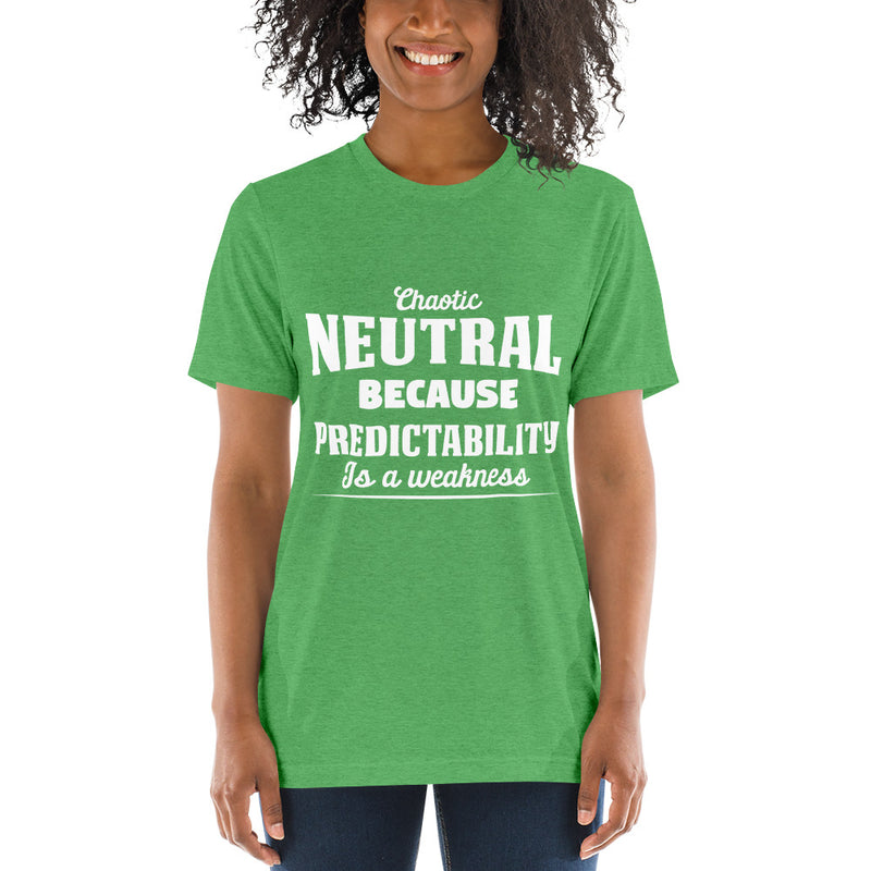 Chaotic Neutral UNISEX Short sleeve t-shirt