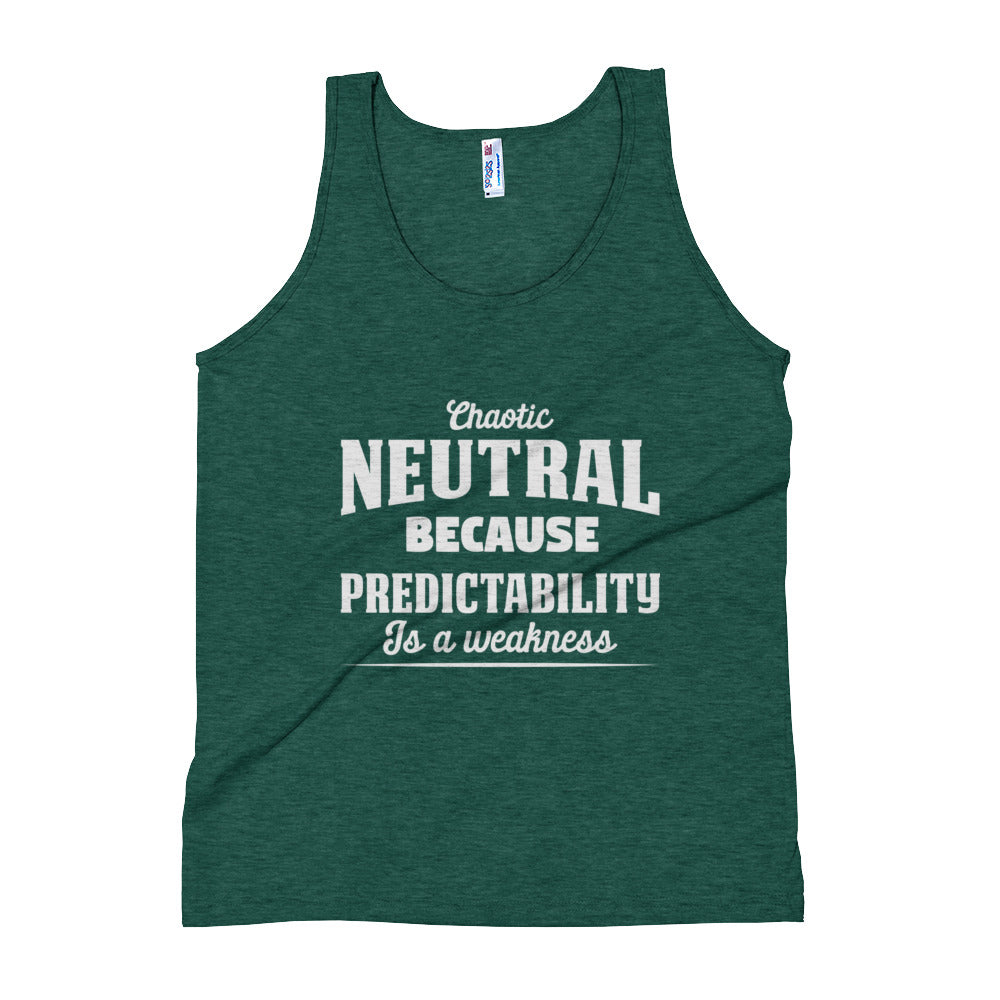 Chaotic Neutral Unisex Tank Top