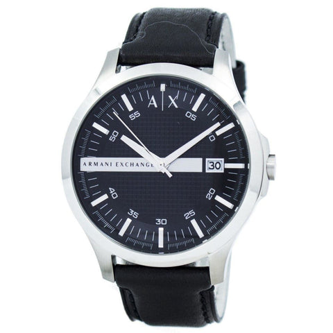 Armani Exchange Black Dial Leather Strap Ax2101 Mens Watch - Apparel & Accessories