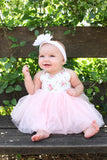 Girls Dress Pink Toddler Tutu Wedding Christening Baby Birthday dress