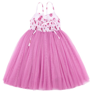 Long Tulle Girls Party Dress Summer Wedding Special Occasion Sundress