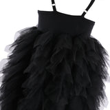 Girls Black Dress Sequins Tulle Tutu Easter Dress