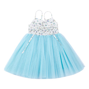 Baby Girls Dress Light Blue Toddler Tutu for Wedding Birthday Party