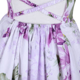Girls Purple Dress Summer Beach Party Kids Dress