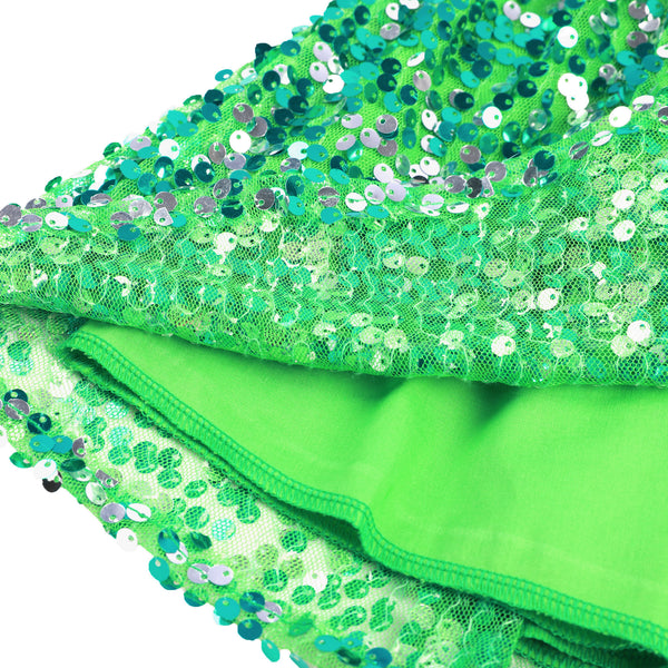 Sequin Girls Skirt Green Christmas Mini Sparkle Skirt for 1- 12 Years old