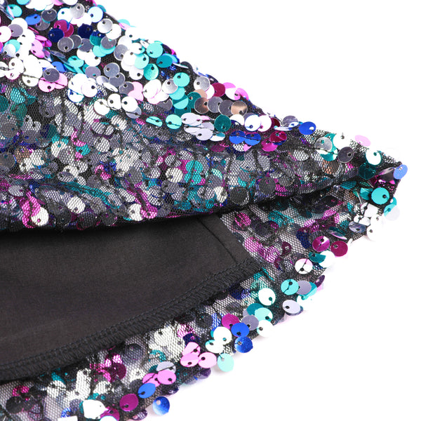 Sequin Girls Skirt Rainbow Mini Sparkle Skirt for 1- 12 Years old