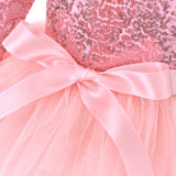 Little Girls Floral Dress Ruffle Sleeves Fancy Toddler Sundress
