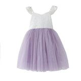 Baby girls tutu dress lace top 3 layer tulle Christmas dress up