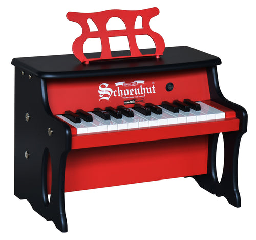 Schoenhut Table Top Piano 25-Key 2 Tone Red/Black