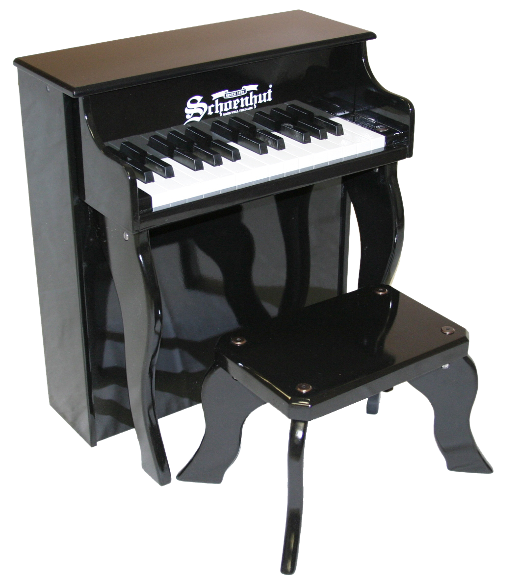 Schoenhut Elite Spinet Piano 25-Key Black