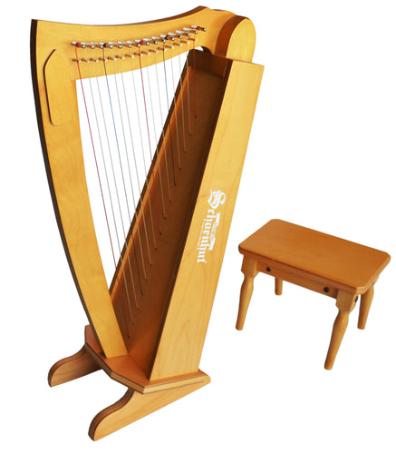 Schoenhut 15-String Harp w/ Bench Cherry
