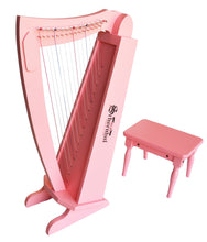 Load image into Gallery viewer, Schoenhut 15-String Harp w/ Bench Pink