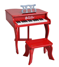 Load image into Gallery viewer, Schoenhut Fancy Baby Grand Piano 30-Key Red